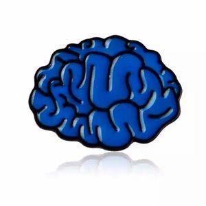Neuro Anatomy Blue Brain Scrub Lapel Pin Psyc Gift